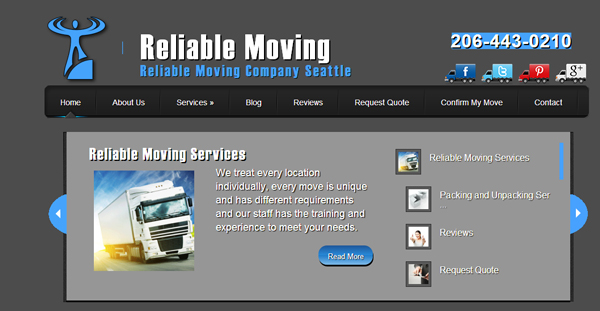 Reliable Moving Seattle WA